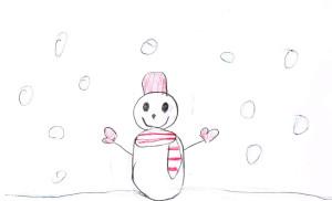 雪の日のおくりものイラスト2