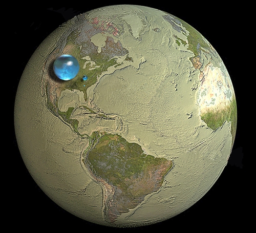 Credit: Howard Perlman, USGS; globe illustration by Jack Cook, Woods Hole Oceanographic Institution (©); Adam Nieman.